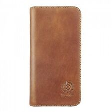Bugatti Samsung Galaxy S6 Oslo Real Leather Booklet Wallet Case Cover Cognac