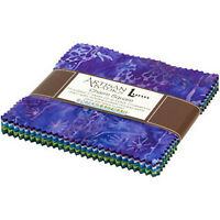 Kaufman Batik Fabric Charm Squares, Studio RK, SERENITY LAKE, CHS-872-42
