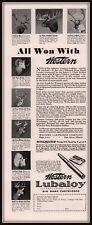 1934 AD  WESTERN LUBALOY BIG GAME CARTRIDGE HUNT SHOOT TROPHY HEADS