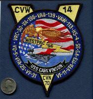 CVN-70 USS CARL VINSON WESTPAC 1996 US Navy Ship Squadron Cruise Jacket Patch