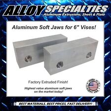 "1.5 x 2.5 x 6"" Extruded Aluminum Soft Jaws for 6"" Kurt Vise Chick Te-co Toolex"