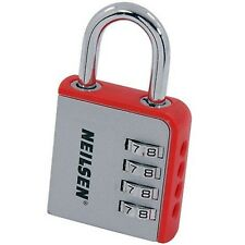 New 8cm Large 4 Dial Number Combination Padlock Sheds Toolboxes Gym Lockers Lock
