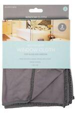 Grey Microfibre Window Cloth - 2 Pack