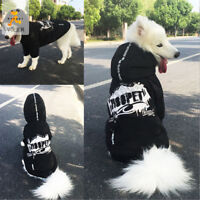 Large Pet Dog Spring Clothes Warm Hoodie Vest Casual Coat Street Fashion Jacket