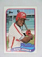 Ron Jones Philadelphia Phillies 1989 Topps Baseball Card Number 349