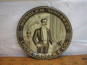 Nice Vintage Hyroler Whiskey Advertising Tip Tray Louis J. Adler & Co Pittsburgh