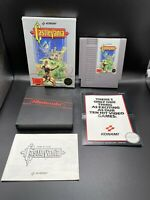 Castlevania Nintendo NES System 1987 Black Seal REV-A CIB Complete Box W/ Manual