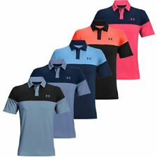 Under Armour Golf UA T2G Blocked Polo Stretch Mens Golf Polo Shirt