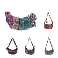 Women's Beach Boho Crossbody Shoulder Bag Canvas Hobo Handbag Tote Bag Purse