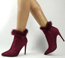 Señora botas botín 37 rojo botas botines tacón alto plataforma nuevo