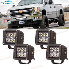 3Inch Cube Spot Fog Light Pods(4x) For 2007-2013 Chevy Silverado 1500 2500 3500