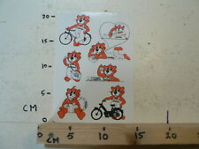 STICKER,DECAL PEUGEOT MOPEDS, CYCLES SHEET 6 STICKERS LEEUW LION VINTAGE