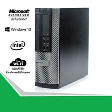 Dell 9020 SFF Desktop Computer PC Intel i5-4570 16GB 480GB WiFi DVDRW Win10 HDMI