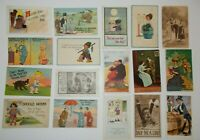 LOT OF 30 COMIC GREETINGS ANTIQUE  POSTCARDS