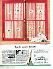 PUBLICITE ADVERTISING 086  1967  Gardisette rideaux voilages ... chat