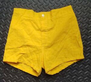 Vintage Men's Shorts Bathing Suit Yellow Color Size S