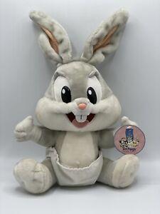 VTG 1997 Six Flags Baby Bugs Bunny Looney Tunes Theme Park Plush Stuffed Animal