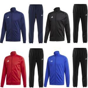adidas Jogginganzug Sportanzug Herren Trainingsanzug schwarz blau rot Männer