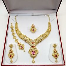 Indian Bridal Jewellery Bollywood American Diamonds Ethnic Wear Necklace Set