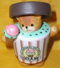 Porcelain Lucy Rigg Me Mint Chocolate Chip Ice Cream Carton Teddy Bear Figurine
