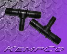 """1/2"""" to 3/8"""" Hose Barb Reduction TEE Connector (2) Nylon HHO Auto Boat Pump"""