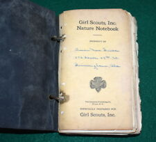 GIRL SCOUT - VERY EARLY NATURE PROFICIENCY BADGE NOTEBOOK