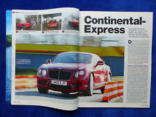 Bentley Continental GT V8 507 PS - Test - Auto Motor Sport Heft 27 / 2012