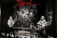 Vintage Rock Poster, RUSH: LIVE ON STAGE, 2112,Geddy Lee,Alex Lifeson,Neil Peart