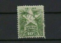 hawaii 1894 used  10 cent stamp ref r13081