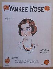 Yankee Rose - 1926 sheet music - by Holden & Frankl, with ukulele arrangement