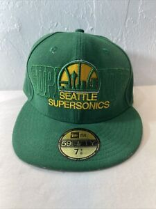 Seattle Super Sonics NBA New Era 59Fifty Snapback Cap Hat  Hardwood Classics
