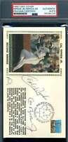 Cal Ripken Jr And Sr PSA DNA Coa Signed 1987 FDC Cache Autograph