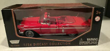 1958 Chevrolet Impala Red 1/24 Diecast Model Car by Motormax Convertible New