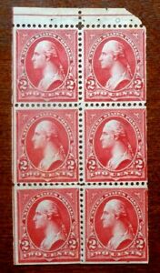 Buffalo Stamps:  Scott #279B Booklet Pane of 6, Mint NH/OG & VF, CV = $1,350