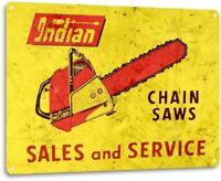 Chain Saws Tools Equipment Garage Shop Rustic Metal Decor Sign