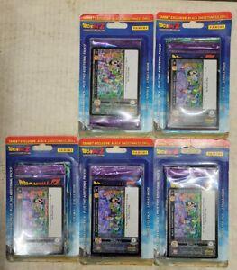 5x Dragon Ball Z Blister Packs 15 total Booster Packs + 5 Holo Foil Promos (15D)