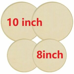 Electric Stove Top Burner Covers Set of 4 Almond Cream Color 8 Inch 10 Inch