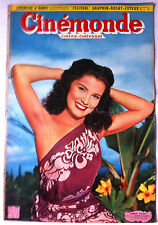 CINEMONDE 10/3/1951; Debra Paget/ Guitry et Fernandel/ Presle/ Mariano/ Carol M.