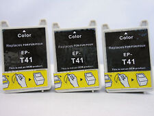 T041 Color Remanufactured Ink Cartridge for Epson Stylus CX3200 C62 C62UX - 3pK