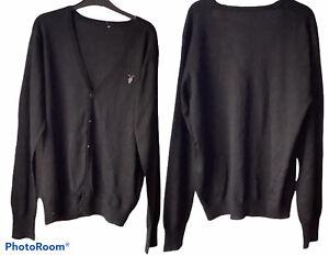 🌻All Saints Merino Wool Mens'  Black Cardigan Size Large   🌻