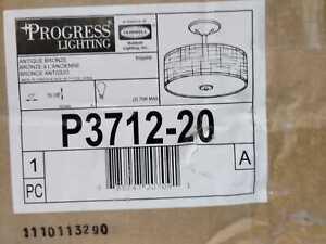 Inspire 2-Light Antique Bronze Semi-Flush Mount by Progress Lighting