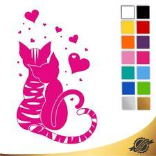 Aufkleber Sticker Autoaufkleber Auto verliebte Katzen Katze 13 x 7,8 cm