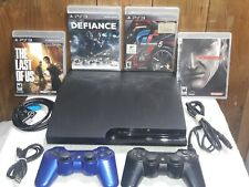 PS3 System w/ Bundle - Sony Playstation 3 CECH-3001A 160GB - 2 Remotes - 4 Games