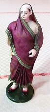 Inde époque XIXème Personnage féminin vie indienne - Poupée - Santon - Figurine