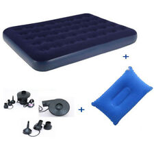 New Bestway Inflatable Flocked Double Airbed / Pump Camping Mattress Blow Up Bed
