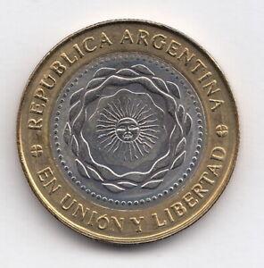 ARGENTINA 2011 2 pesos  - KM#165  -En union y libertad - Bimetallic  R.1054 ABU