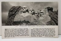 Mt Rushmore National Monument and Story, Rise Studio #800 RPPC Postcard C8