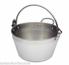 Kitchen Craft Small Stainless Steel 4.5Ltr Maslin Jam, Marmalade & Preserve Pan