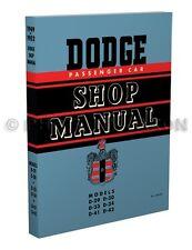 Dodge Car Repair Shop Manual 1949 1950 1951 1952 Wayfarer Meadowbrook Coronet