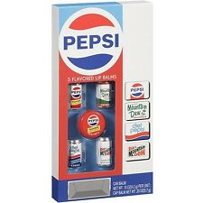 New Lotta Luv Pepsi Flavored Lip Balms, 5 count NIP Diet Pepsi Mountain Dew